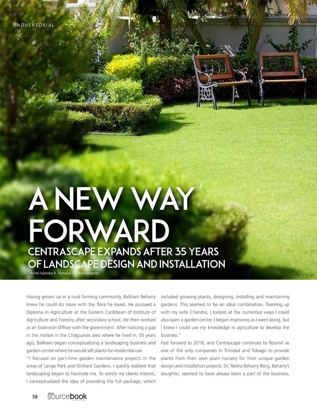 MACO Sourcebook - Centrascape Article - Page 1