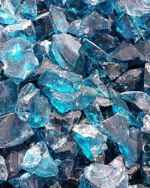 Centrascape - Decorative Light Blue Glass 1