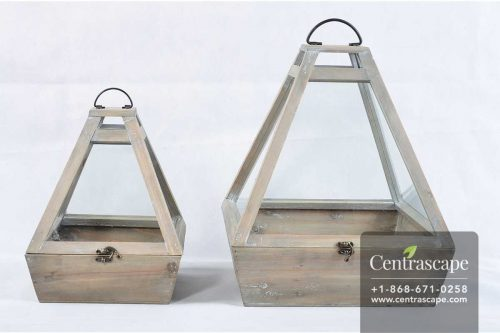 Centrascape - Pots - Durable Wood Terrarium Set