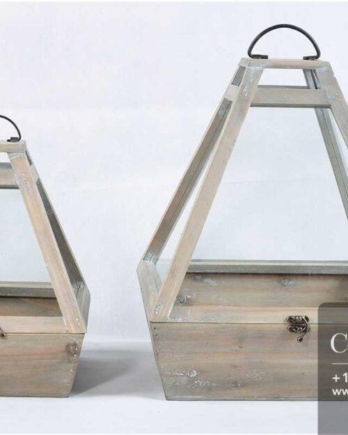 Centrascape - Pots - Durable Wood Terrarium Set