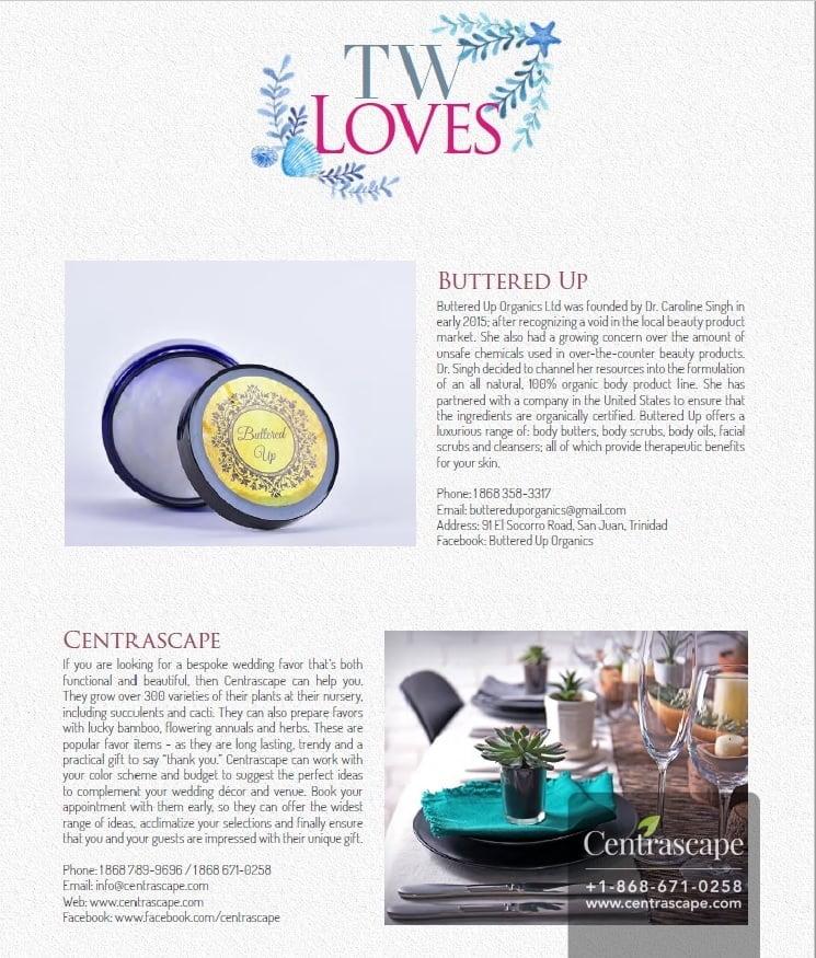 Centrascape's Ad on Trinidad Weddings