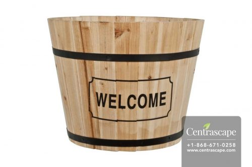 Centrascape - Accessories - Welcome Wood Barrel