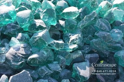 Centrascape - Decorative Turquoise Glass
