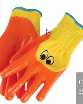 Centrascape - Kids - Ducky Glove with Bright Orange Nitrile 3/4 Dip