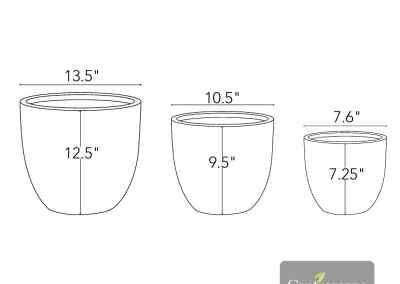 Centrascape - Pots - Atlas Round Patio Planter 2