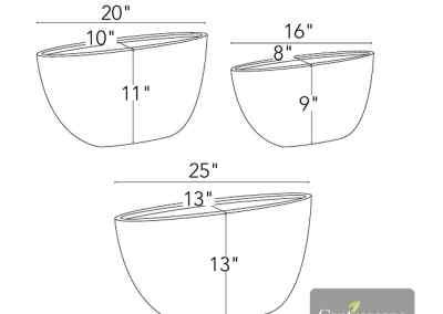 Centrascape - Pots - Oval Fiore 2