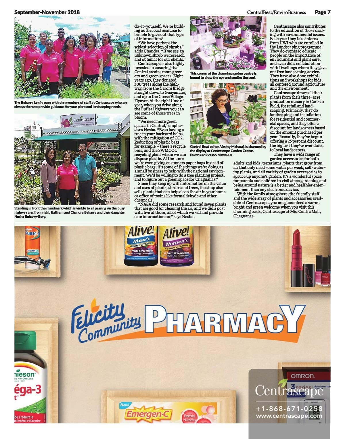 Central Beat - Feature on Centrascape Garden Centre